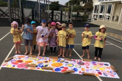 Aft 2016 Flower mural - painting outside